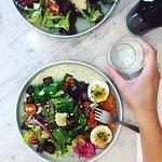 Nordic salad with homemade gravlax!