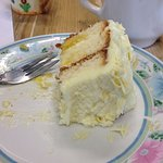 The most amazing Lemon cake! Fabulous service, great coffee and a relaxing atmosphere! What more