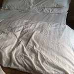 Crumpled duvet cover on arrivsl