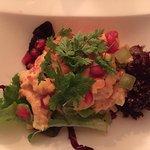Salat von Flusskrebsen, Mango und Papaya