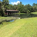 Tiki bar canoe area and primitive camping close by.