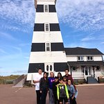 Us @ the lighthouse with Scott, Kiara & Benjamin!