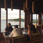 Perfect place for dinner and sunset. The fish tacos and lobster were delicious... and the views,