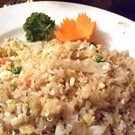 Crab fried rice- tasty, but not spicy.