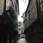 Looking down the street from the hotel. Charming Medieval Town.