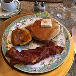 Just the delicious complimentary breakfast at Harrison House Bed and Breakfast.
