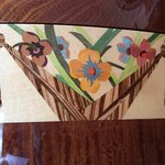 Marquetry in our compartment