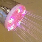 Showerhead changes colors as you shower