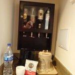 Mini bar & coffee maker in the room!