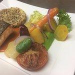 Pavé de saumon et ses légumes d'automne glacés
