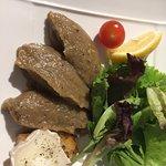 Aubergines grillées et toast de chèvre