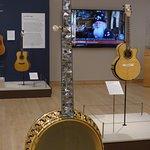 Dragon and Vines exhibit - Banjo inlay