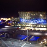 View from the Skybar overlooking Harpa