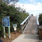 Access to beach area
