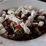 the Goats Cheese salad at The Wine Press