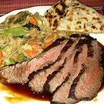 Delicious, cooked to perfection flank steak