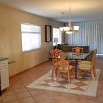 Kitchen and Living areas in 2 bedroom unit