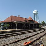 Station, water tower, and tracks