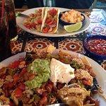 Shrimp tacos & nachos