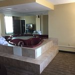 King Suite: Very relaxing jacuzzi in the room adjoining the bedroom.