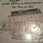 a photo of the menu cover