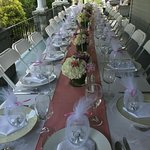 The table is set for your wedding guests