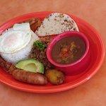Columbian style food - Bandeja Paisa