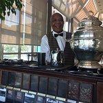Alexandre serving us tea!