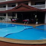 Front of hotel 1 of 2 pools