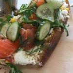 sandwich of salmon