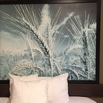 Prairie inspired artwork of a wheat field, Super 8 Brandon MB,1570 Highland Avenue, Brandon, MB