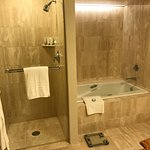 Excellent shower and relaxing bath options