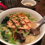 Ramen soup with Trout - a great mix of flavors and enough for two meals