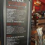 Drink Menu, Lady of the Lake Shop, Cafe & Pub,Brandon, MB