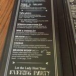 Menu options, Lady of the Lake Shop, Cafe & Pub,Brandon, MB