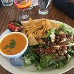 Wine and Cheese salad, and soup of the day, Lady of the Lake Shop, Cafe & Pub,Brandon, MB