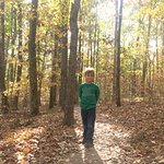 My 6 year old on the Rainbow trail in November