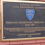 portland observatory plaque