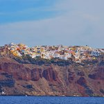 View of Oia from sea