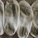 Socks from walking on carpet.