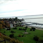 View of Mackinac Harbor from Fort Mackinac - beautiful, idyllic.
