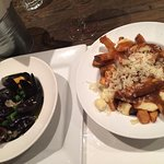 Mussels & fries with Poutine