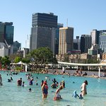 Southbank beach.