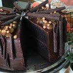 Valrohna Choc and salted caramel cake