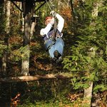 Yours truly on one of the zip lines at Zoar