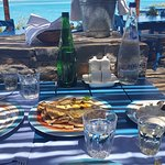 Greek taverna on hotel beach