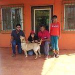 our labrador thanking the mango inn owner