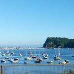 View driving into Teignmouth