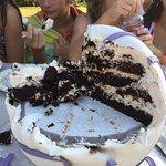 Chocolate & tiramisu...and there's still another half cake under this!