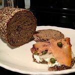Dense, dark bread...a Danish specialty!
